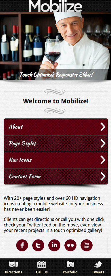 Latest Photo of  Mobilize jQuery Mobile WordPress Theme