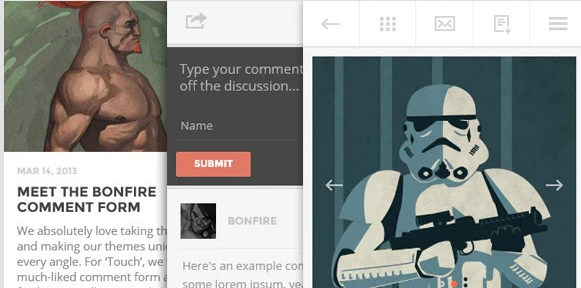 Latest Photo of  TOUCH: A Lighter than air WordPress Mobile Theme