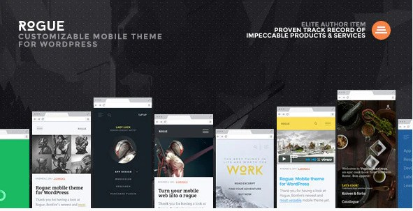 Latest Photo of  Rogue: Customizable Mobile Theme for WordPress
