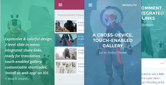 Latest Photo of  Monolith WP theme for bloggers and professionals